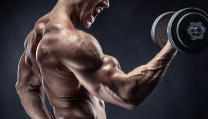 Bodybuilder giving 110