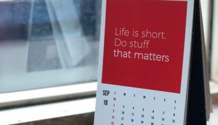 Personal Goals Calendar