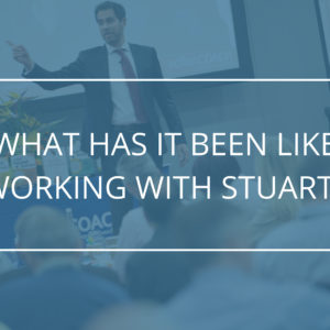 What has it been like working with Stuart