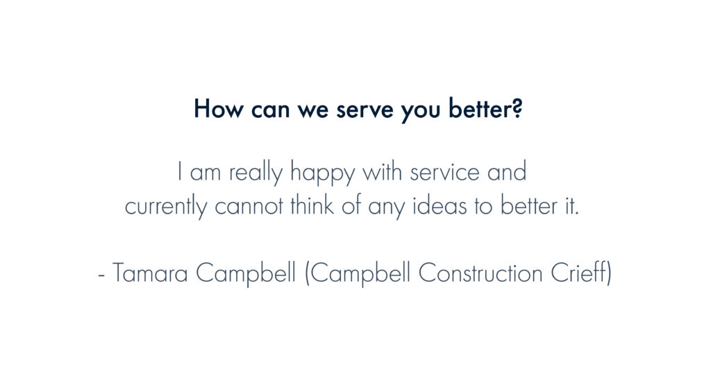 How can we serve you better