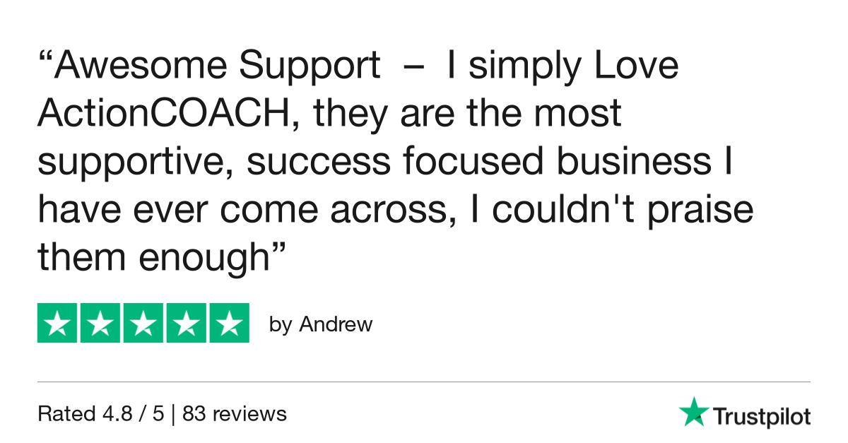 Business coaching support - ActionCOACH Review